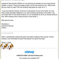 Chewy.com uploaded by Taylor C.