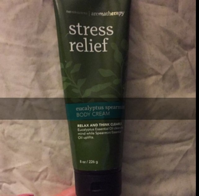 Bath & Body Works Aromatherapy- Stress Relief Hand Cream uploaded by Claudia E.