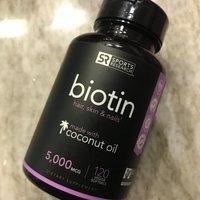 Biotin 10,000mcg in Cold-Pressed Organic Coconut , Non-GMO & Gluten Free - 120 Mini Veggie Softgels uploaded by Dayle M.