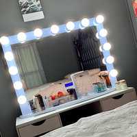 Impressions Vanity Co. Hollywood Glow(TM) Plus Vanity Mirror, Size One Size - Glossy White uploaded by MARLA T.