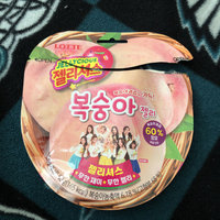 [lotte] Korean Fruit Jelly Gummy Chewy Candy 'jellycious Peach' (50g×8 Bags) uploaded by Gemini M.