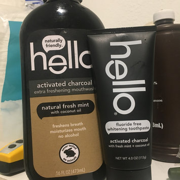 Photo of hello® activated charcoal fluoride free whitening toothpaste with fresh mint + coconut oil uploaded by Liz S.