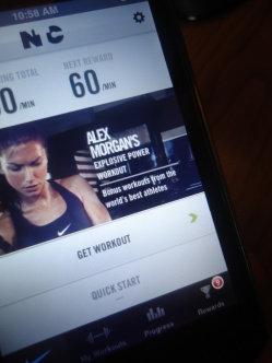 Photo of Nike Training Club App uploaded by Elizabeth M.