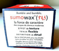 Bumble and bumble. Sumowax uploaded by Erica C.
