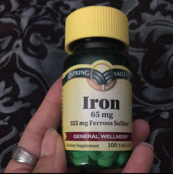 Photo of Spring Valley Iron 65Mg 100Ct  Iron 65 Mg Tablets Dietary Supplement 100 uploaded by Melaney M.