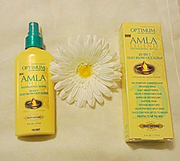 Photo of Optimum Salon Haircare Amla Legend® 10-in-1 Silky Blow-Out Elixir for All Hair Types 6 fl. oz. Bottle uploaded by Fallon J.
