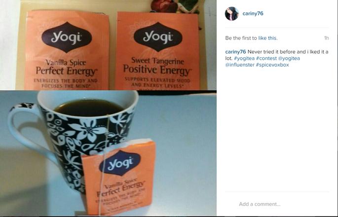 Yogi Tea Vanilla Spice Perfect Energy uploaded by Cariny C.