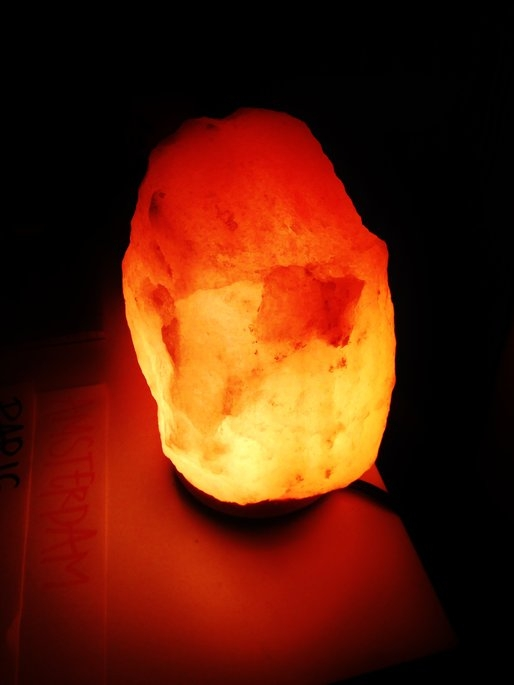 WBM # 1004 Natural Air Purifying Himalayan Salt Lamp With Neem Wood uploaded by Liz M.