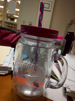 Photo of aladdin Aladdin Double-Walled Plastic Mason Jar - Pink (20 oz) uploaded by Wendy M.