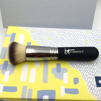 Photo of IT Cosmetics® Heavenly Luxe™ Flat Top Buffing Foundation Brush #6 uploaded by Peyton D.