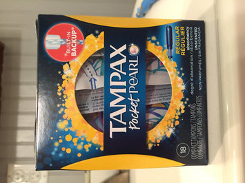 Tampax Pocket Pearl Regular Unscented Compact Tampons 18 ct Box uploaded by Crystal T.