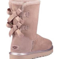 Women's Ugg 'Bailey Bow Ii' Genuine Shearling Lined Boot, Size 6 M - Brown uploaded by 🌞Melek K.