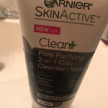 Garnier® SkinActive™ Clean+ Pore Purifying 2-in-1 Clay Cleanser/Mask for Oily Skin 5 fl. oz. Tube uploaded by Jesenia C.