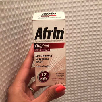 Photo of Afrin Original 12 Hour Relief .5 oz. Nasal Spray uploaded by Millene A.
