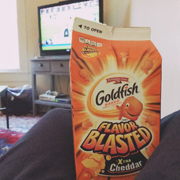Photo of Goldfish® Flavor Blasted Xtra Cheddar Baked Snack Crackers uploaded by Talia M.