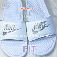black Nike Girls' Kawa Slide Sandals from Finish Line uploaded by Tracey L.