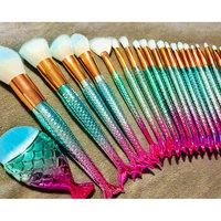 Professional 11Pcs Mermaid Makeup Brushes Set Foundation Blending Powder Eyeshadow Eyeliner Lip Cosmetic Beauty Tools Kit uploaded by Ashley H.