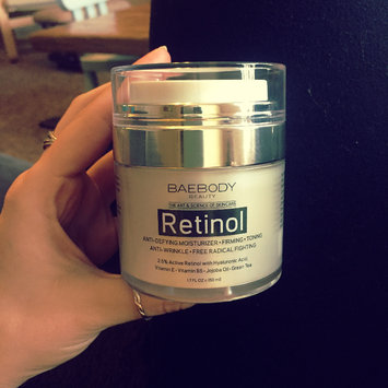 Photo of Baebody Retinol Moisturizer Cream: Helps Reduce Appearance of Wrinkles, Fine Lines. Enhanced Organic Ingredients with Retinol, Green Tea, Hyaluronic Acid, and Jojoba Oil 1.7oz. uploaded by Amanda M.