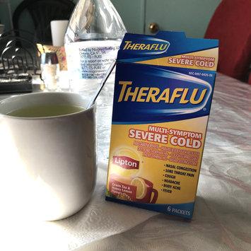 Photo of Theraflu Multi-Symptom Severe Cold Packets Lipton Green Tea & Honey Lemon Flavors - 6 CT uploaded by Iris C.
