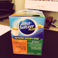 Alka-Seltzer Plus Severe Cold, Cough & Flu Day-Berry Fusion/Night-Honey Lemon Zest - 12 CT uploaded by Chels C.