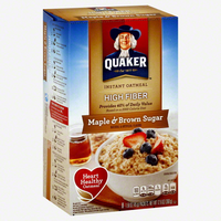 Quaker® High Fiber Instant Oatmeal Maple And Brown Sugar uploaded by Kelley R.