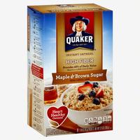 Quaker Instant Oatmeal High Fiber Maple & Brown Sugar uploaded by Kelley W.