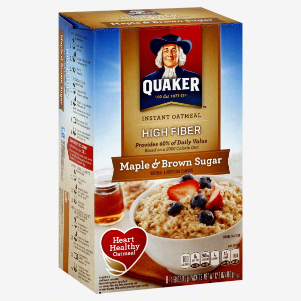 Quaker Instant Oatmeal High Fiber Maple & Brown Sugar uploaded by Kelley W.