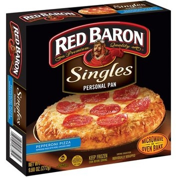 Red Baron® Singles Personal Pan Pizza Meat Trio 10.29 oz Box uploaded by Heather N.