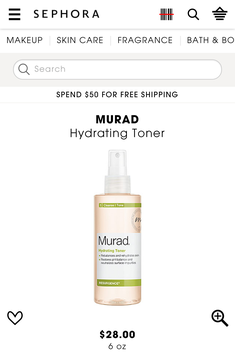 Photo of Murad Hydrating Toner uploaded by Sammie H.