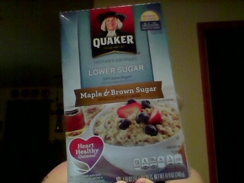 Photo of Quaker® Lower Sugar Instant Oatmeal Maple And Brown Sugar uploaded by Sherri C.