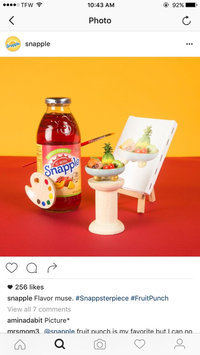 Photo of Snapple Fruit Punch Juice uploaded by Nesa D.