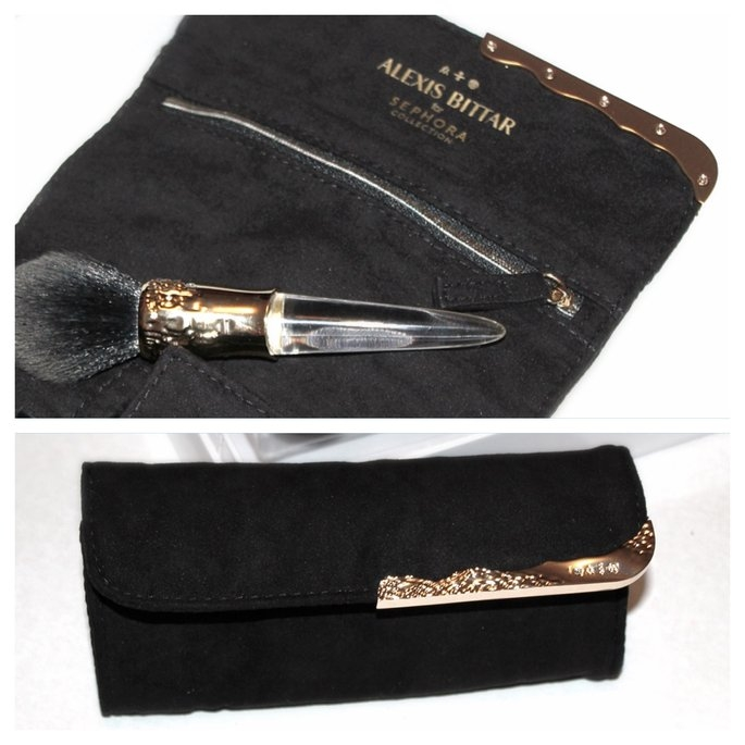 SEPHORA COLLECTION ALEXIS BITTAR LIQUID GOLD: BEAUTY BRUSH + TRAVEL WRAP uploaded by Maria R.