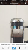 Bonjour Maximus Brushed Stainless Steel 8-Cup French Press Coffee uploaded by Haley J.