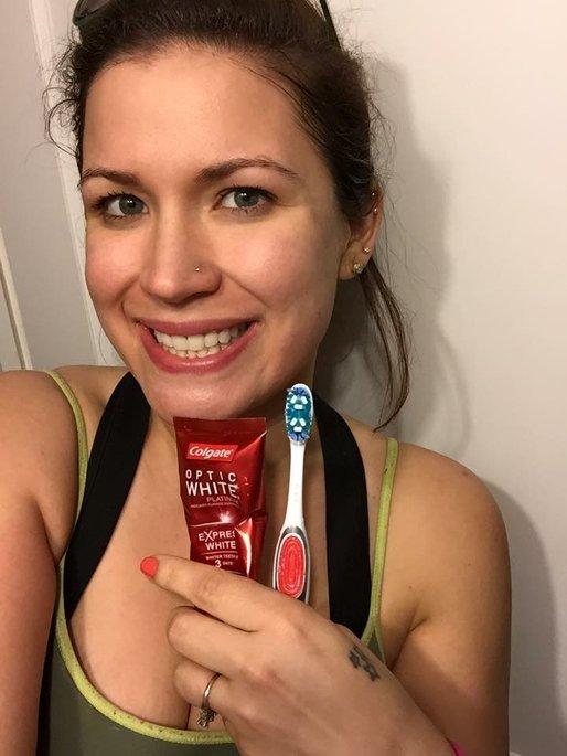 Colgate® Optic White™ Toothbrush + Built-In Whitening Pen uploaded by Saray D.