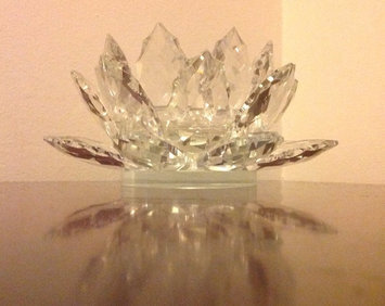 Photo of Godinger Dublin CrystalA Lotus Pillar Candle Holder with Candle uploaded by Kathleen F.