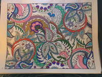 Colorama Coloring Book Flowers Paisleys Stained Glass And More Uploaded By JMacs R