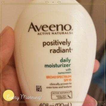 Photo of Aveeno® Positively Radiant Daily Moisturizer SPF 15 uploaded by Sindy N.