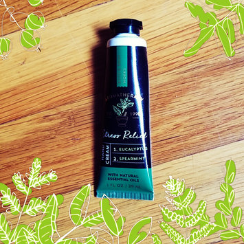 Photo of Bath & Body Works® Aromatherapy STRESS RELIEF-EUCALYPTUS & SPEARMINT Hand Cream uploaded by mikaandtj s.