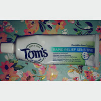 Tom's OF MAINE Fresh Mint Fluoride-Free Rapid Relief Sensitive Toothpaste uploaded by Lauren H.