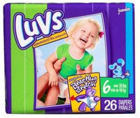 Luvs with Ultra Leakguards Size 6 Diapers uploaded by Ryan S.