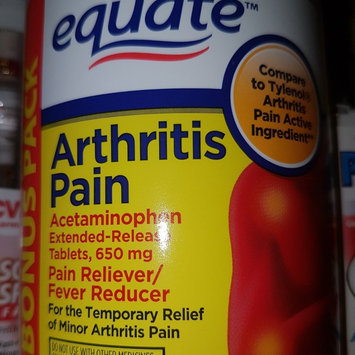 Photo of Equate Arthritis Pain Bonus Pack, Acetaminophen Extended-Release Tablets, 650mg, 325ct, Compare to Tylenol Arthritis Pain uploaded by Luis T.