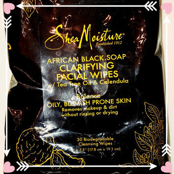 SheaMoisture African Black Soap Clarifying Facial Wipes uploaded by Kaylee B.