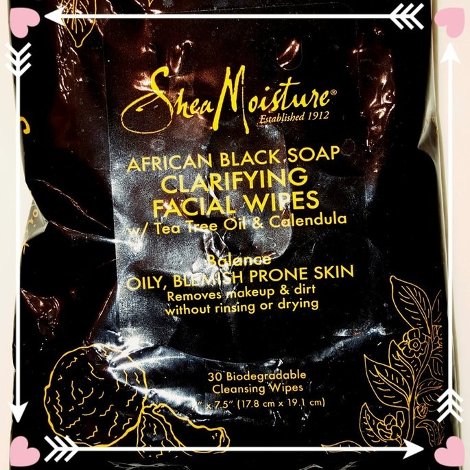 Shea Moisture African Black Soap Clarifying Cleansing Facial Wipes uploaded by Kaylee B.