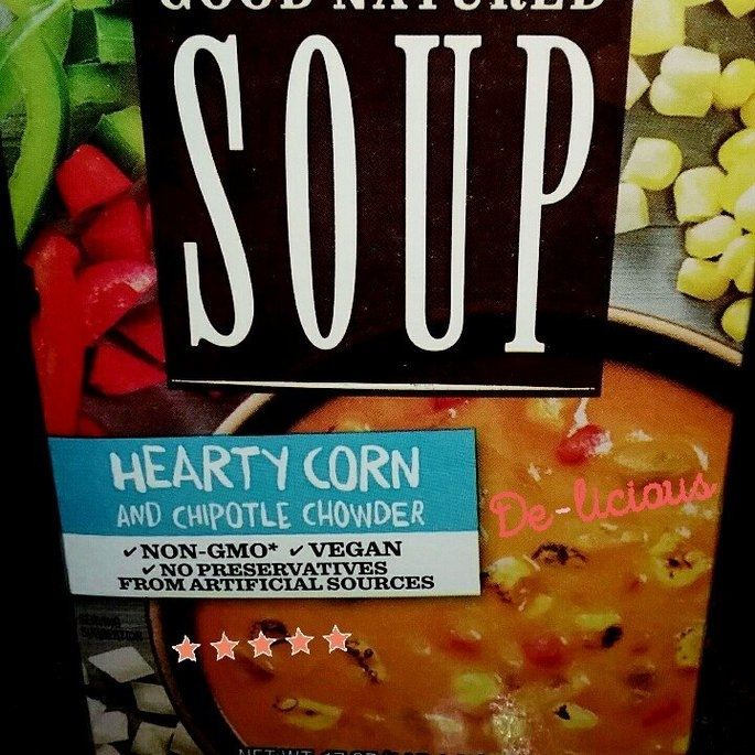 Progresso Good Natured Soup Hearty Corn & Chipotle Chowder 17 oz. Aseptic Pack uploaded by Brittany A.