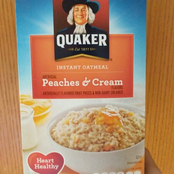 Quaker® Peaches & Cream Instant Oatmeal 10-1.23 oz. Packets uploaded by Joanna E.