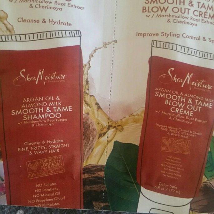 SheaMoisture Argan Oil & Almond Milk Smooth & Tame Shampoo uploaded by Sioban G.