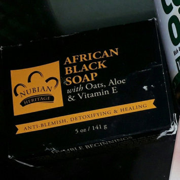 Photo of Nubian Heritage African Black Soap With Shea Butter Oats & Aloe Deep Cleansing 5 Oz (Pack of 3) uploaded by Shada O.