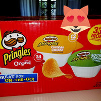 Pringles® Cheddar Cheese Artificially Flavored/The Original/Sour Cream & Onion Flavored Potato Crisps uploaded by Asbaerla B.