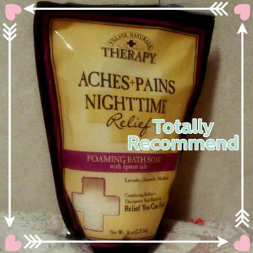 Photo of Village Naturals Therapy Aches+Pains Nighttime Relief Foaming Bath Soak with Epsom Salt, 36 oz uploaded by Tracie C.