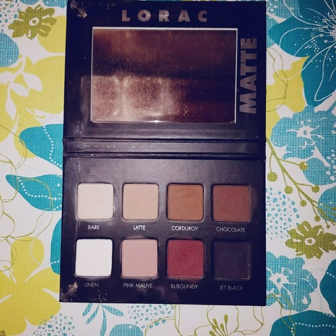 LORAC PRO Matte Eye Shadow Palette (Chocolate/Red/Latte) uploaded by victoria r.